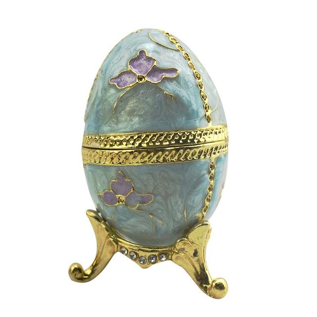 Russian Faberge Egg Jewelry Tinket Box Vintage Egg Figurine Metal Craft  Gift Christmas Birthday Easter Decoration-in Party DIY Decorations from  Home ... 4c70f371a9d6