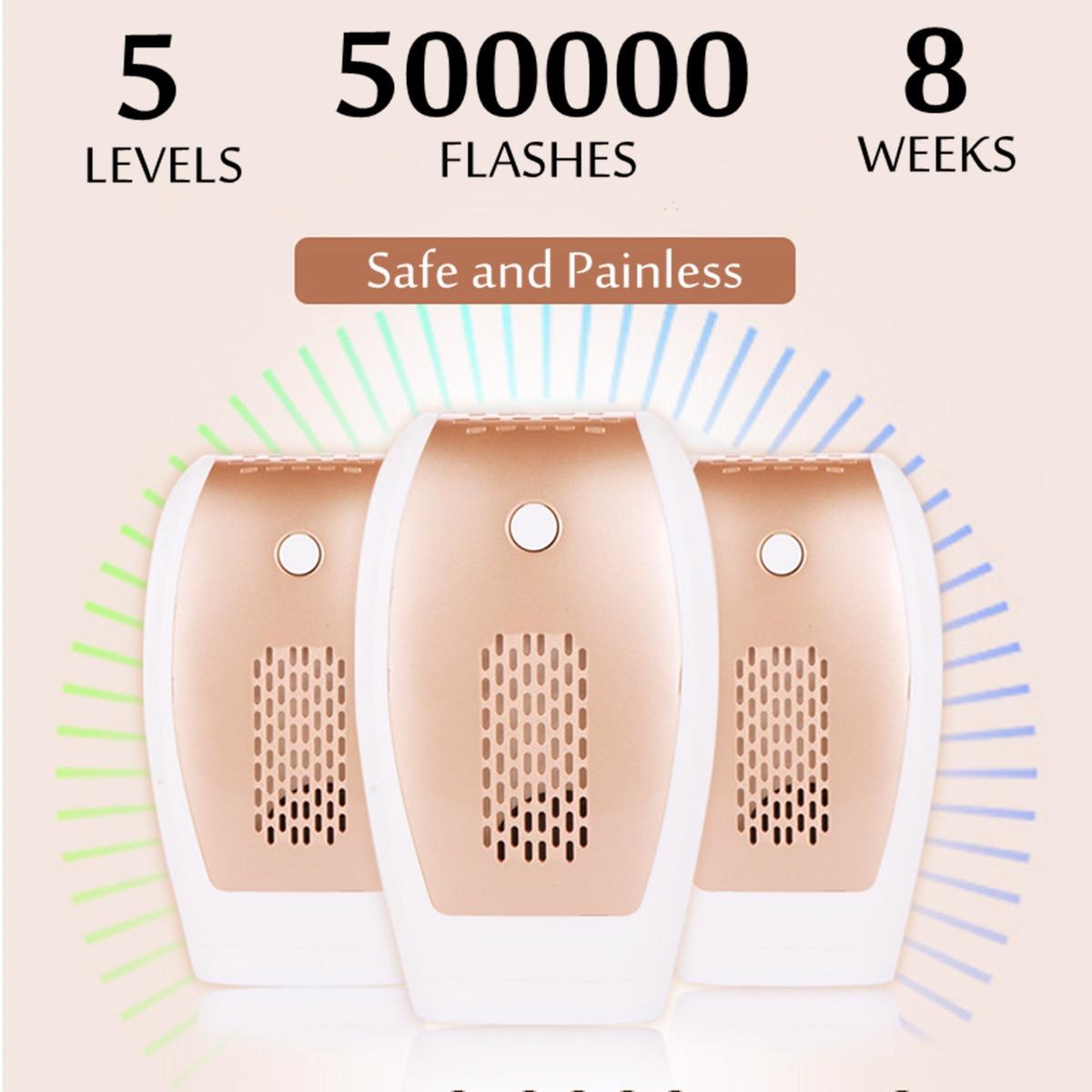 Hair Remover Laser IPL Epillator Lip Armpit Body Bikini Removal 500000 Flashes Painless Five Adjustable US/EU Plug Safe 110~240V
