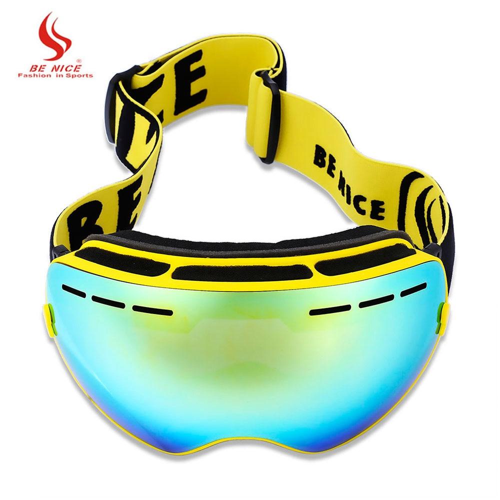77827247252 BENICE Men Women Double UV Protection Anti-fog Big Skiing Goggles Mask  Snowboarding Glasses Ski Mask Ski Goggles Skiing Eyewear