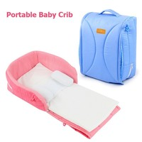 Portable Baby Crib Cotton Foldable Baby Nest Cot Bed In Bed For Newborn Baby Cradle Basket Isolation Bed Travel Bed Diaper Bags