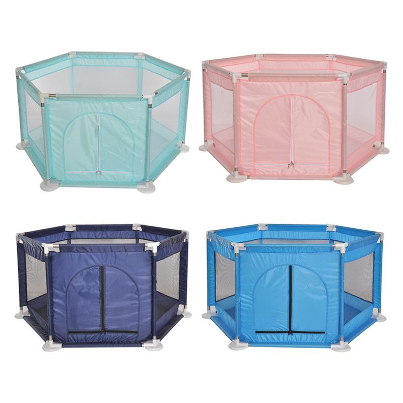 Baby Fence Children's Hexagonal Playpen Playard Toy Washable Ocean Ball Pool Set For Babies/Toddler/Newborn/Infant Safe Crawling