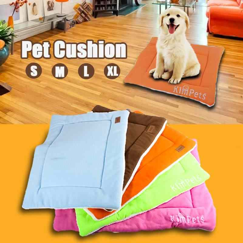 Puppy Kitten Dogs Cats Bed Soft Warm Pet Beds Pads Cushion Puppy Sofa Couch Kitten Mat Kennel Pad Furniture Mattress  4 Size