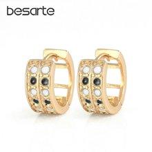 Женские золотые серьги кольца круглые обручи eh1830