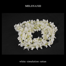 Melsnajsd 11 piece Artificial Flower Wisteria Vine 180cm Single Silk 210 Flowers Series Plant Wedding Decoration Wall background