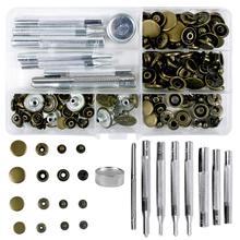 50 наборов, 4 размера, кожаные заклепки, одинарные заклепки, трубчатые металлические шпильки с 9 шт., инструмент для фиксации, для рукоделия, заклепки, Rep
