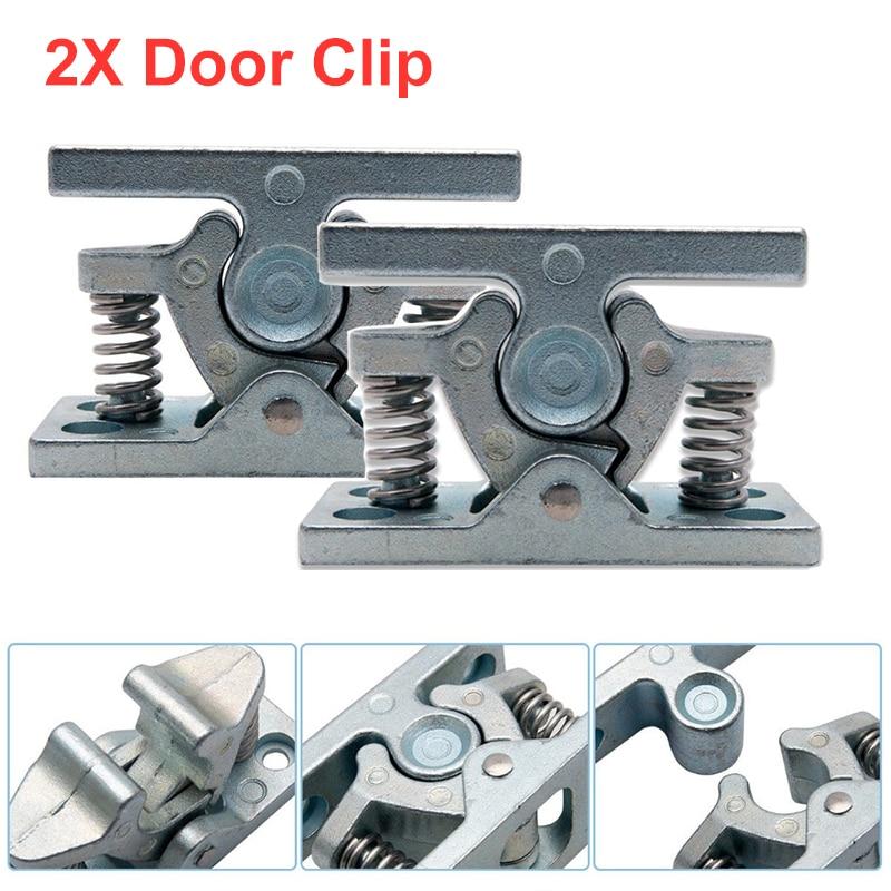 2 x CARAVAN and MOTORHOME DOOR RETAINER CATCH CLIP