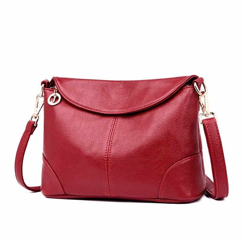 2019 Female Messenger Bags Ladies Women Soft Genuine Leather Shoulder Bag Sac A Main Vintage Crossbody Bags For Women Flap Bag