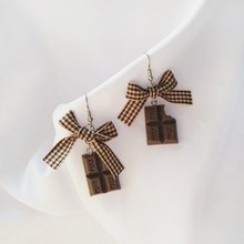 New Arrival Fashion Bowknot Diy Chocolate Drop Earrings Cute/Romantic Creative Handmade Cute Food