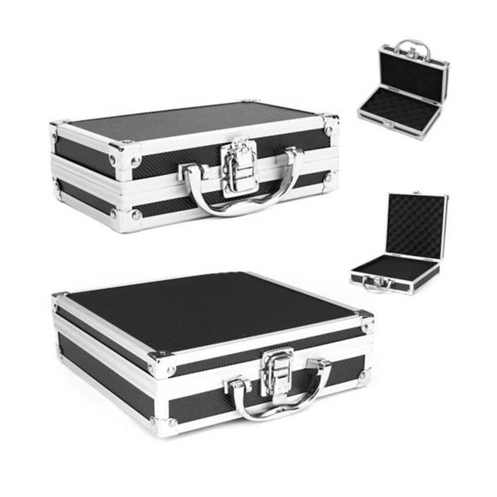 Aluminum Travel Instrument Organizer Suitcase Case Portable Alloy Toolbox Storage Luggage Small/Large Size