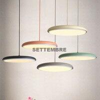 SETTEMBRE Moderne Runden Teller LED Anhänger Beleuchtung Esszimmer Schlafzimmer Küche Hängen Lampe-in Kronleuchter aus Licht & Beleuchtung bei
