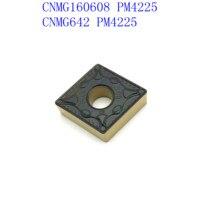 כלי קרביד כלי cnc קרביד מכניס CNMG160608 PM 4225 סגסוגת קשה CNC מפנה כנס כלי חיתוך cnmg 160,608 מחרטה חותכת (5)