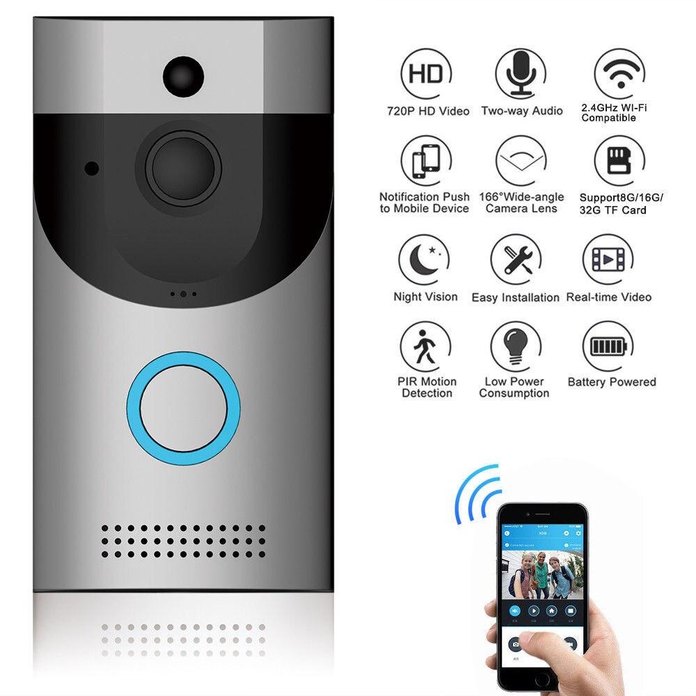 Smart Wireless WiFi Doorbell HD Video Audio  Home Security Waterproof Ring