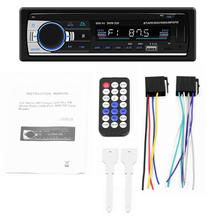 Auto MP3 Radio Schermo LCD Bluetooth Vivavoce MP3 Lettore Carta di TF U Piatto di Carta AUX Dual USB di Ricarica Supporto Android IOS