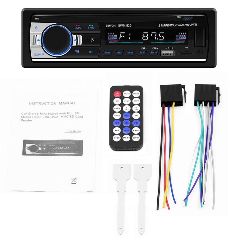Автомобильный MP3 радио ЖК экран Bluetooth Handsfree MP3 плеер TF карта U пластина AUX Карта двойной USB Зарядка Поддержка Android IOS|Автомобильные радиоприемники|   | АлиЭкспресс