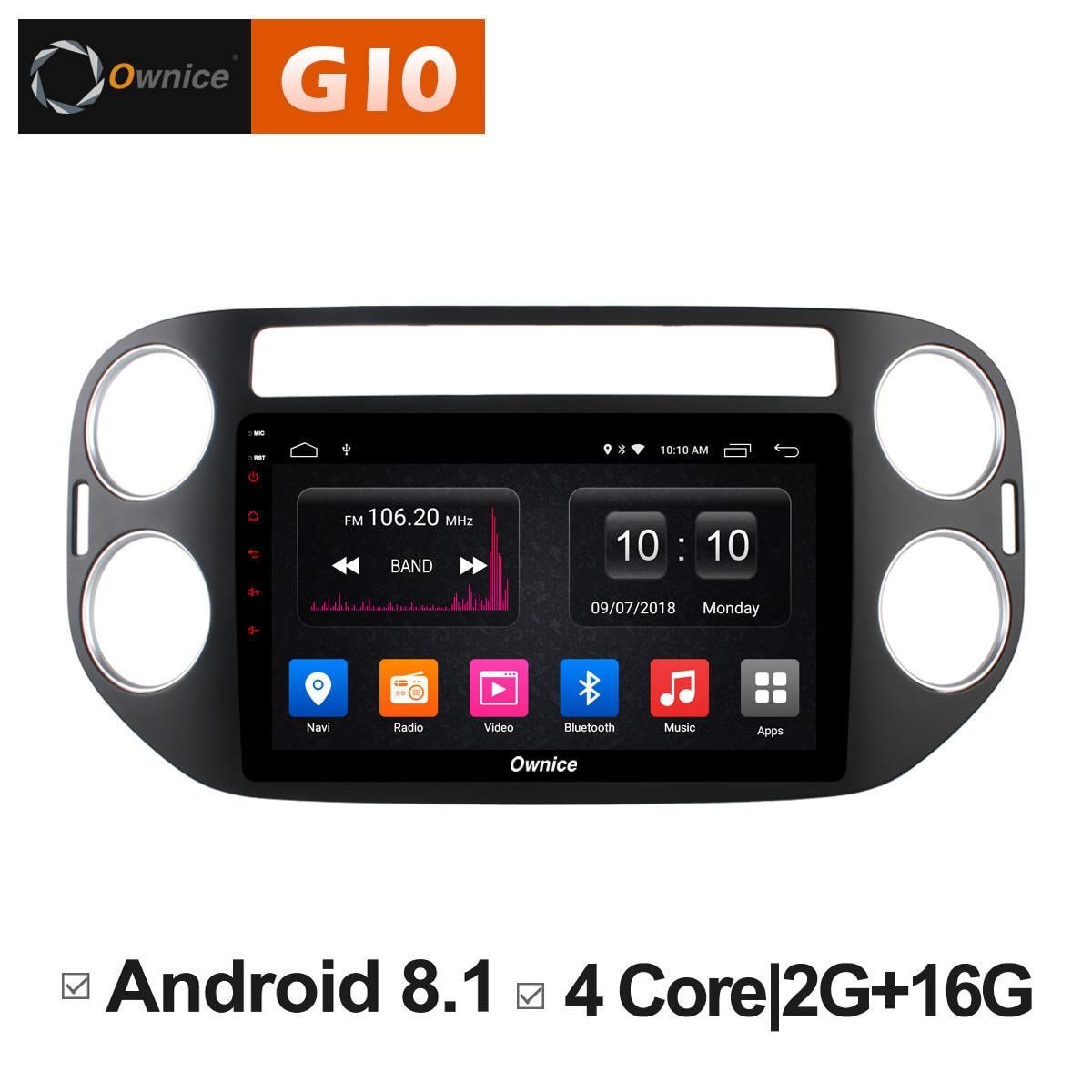 Android 8.1 unité voiture stéréo Audio dvd Radio lecteur multimédia gps navigateur pour VW tiguan 2010 2011 2012 2013 2014 2015 2016