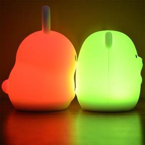 Image 2 - Yeni 7 renkler ayı tavşan LED USB hayvan gece lambası silikon yumuşak karikatür çocuk bebek kreş lamba led gece lambası