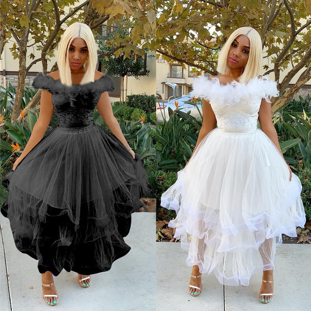 Vestido blanco largo verano 2019