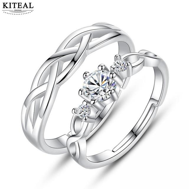 Wedding Ring On Sale.Us 0 89 23 Off Kiteal New Sale 925 Jewelry Silver Couple Ring For Women Wedding Rings Zircon Ring Sets Aneis Valentine S Day Gift In Wedding Bands