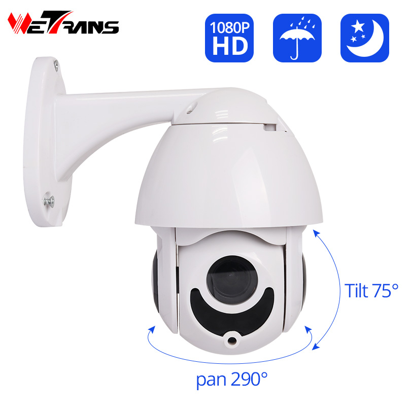 Wetrans Ip-Camera Outdoor 1080P PTZ Video-Surveillance Dome Security HD 4x-Zoom Onvif
