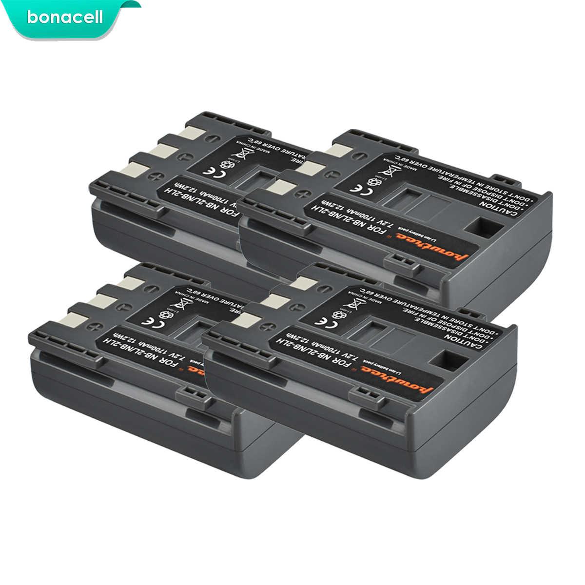 Bonacell 1700 2600mah NB-2L NB2L NB-2LH NB 2LH NB2LH デジタルカメラ充電池キヤノン反乱 XT XTi 350D 400D G9 g7 S80 S70S30 L50