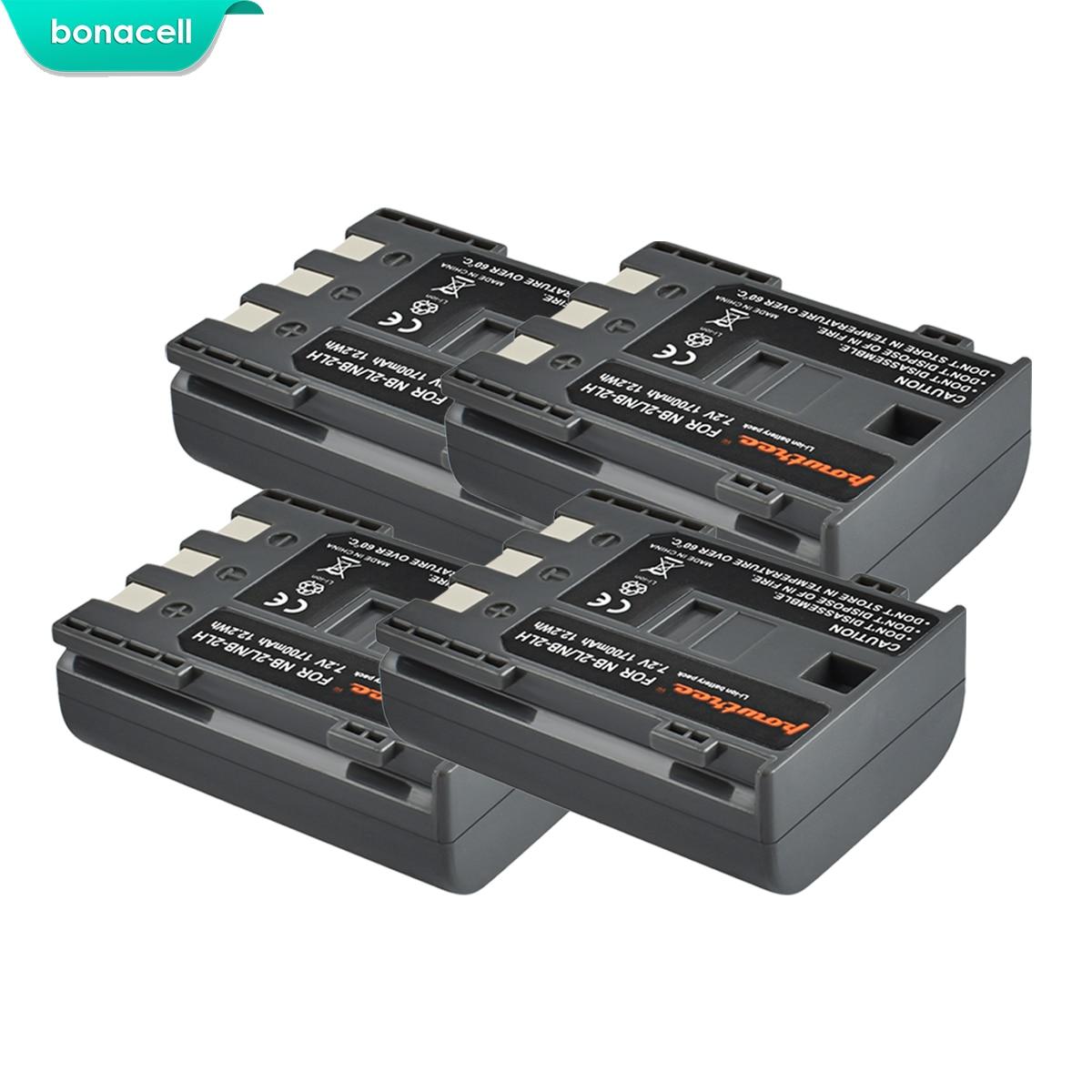 Bonacell 1700mAh NB-2L NB2L NB-2LH NB 2LH NB2LH Digital Camera Battery For Canon Rebel XT XTi 350D 400D G9 G7 S80 S70S30 L10