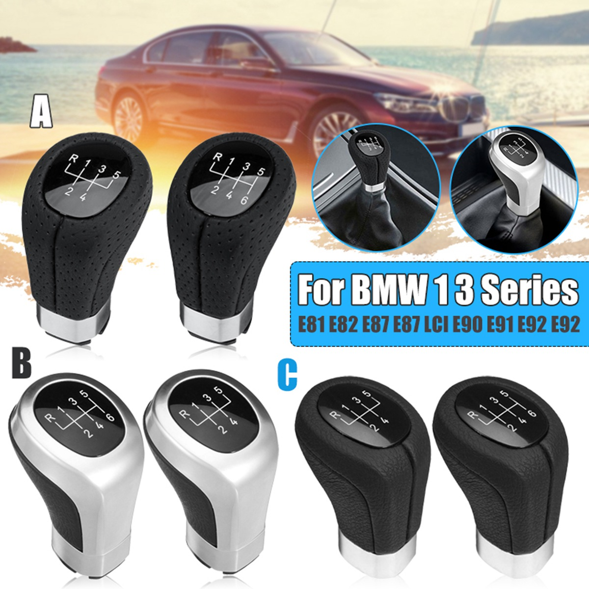 5 6 Speed Gear Shift Knob For Bmw 1 3 Series E81 E82 E87 E88 E90 E91 E92 E93 Excellent Quality Back To Search Resultsautomobiles & Motorcycles