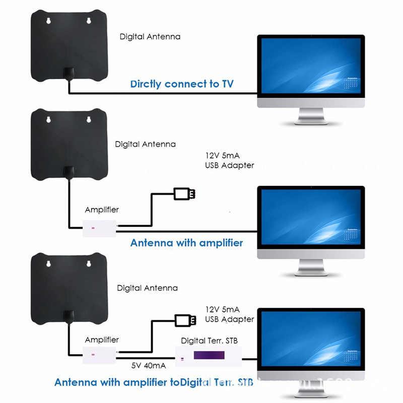 TY21D ТВ антенна цифровой HD Крытый 50 миль диапазон высокий усилитель мощности цифровой DVB-T2 для спутникового приемник HDTV сигнала 1080 P