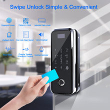 Digital Door Lock Glass Door Lock Electric With Touch Fingerprint Keypad Smart Card Remote Control Office Home electronic Lock цены онлайн