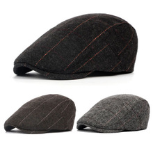 52ac01cc68ed6 UK Mens Flat Cap Beret herringbone Newsboy Bakerboy Hat Gatsby Peaky  Blinders(China)