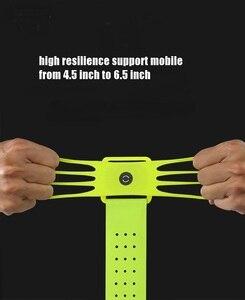 Image 3 - VNSTRIP evrensel koşu kol bandı elastik silikon bilek bandı telefon tutucu 4.5 6.5 inç 360 derece dönen Samsung