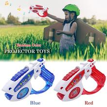 Kids Policeman Projector LED Light Gun Toys Simulated Army Plastics Toy Glow