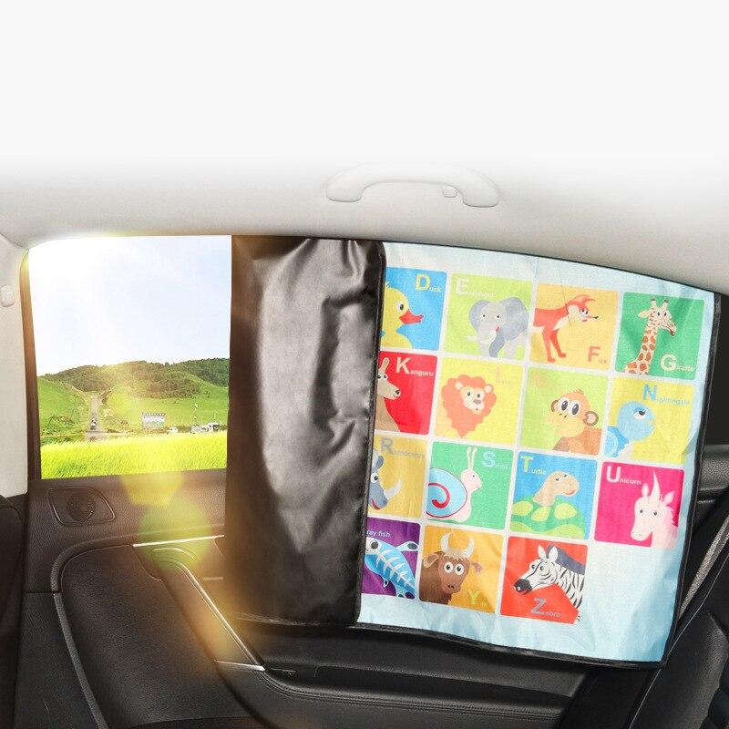 Cartoon Magnetische Auto Zon Protector Side Window Zonnescherm Gordijn Zomer Verstelbare Zonnebrandcrème Baby Schaduw Solar Uv Folies Hoge Standaard In Kwaliteit En HygiëNe