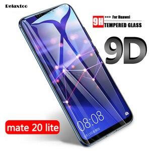 Image 1 - 9D 強化ガラス Huawei 社メイト 20 Lite スクリーンプロテクター Huawei 社メイト 20 mate20 lite ライト保護保護ガラス