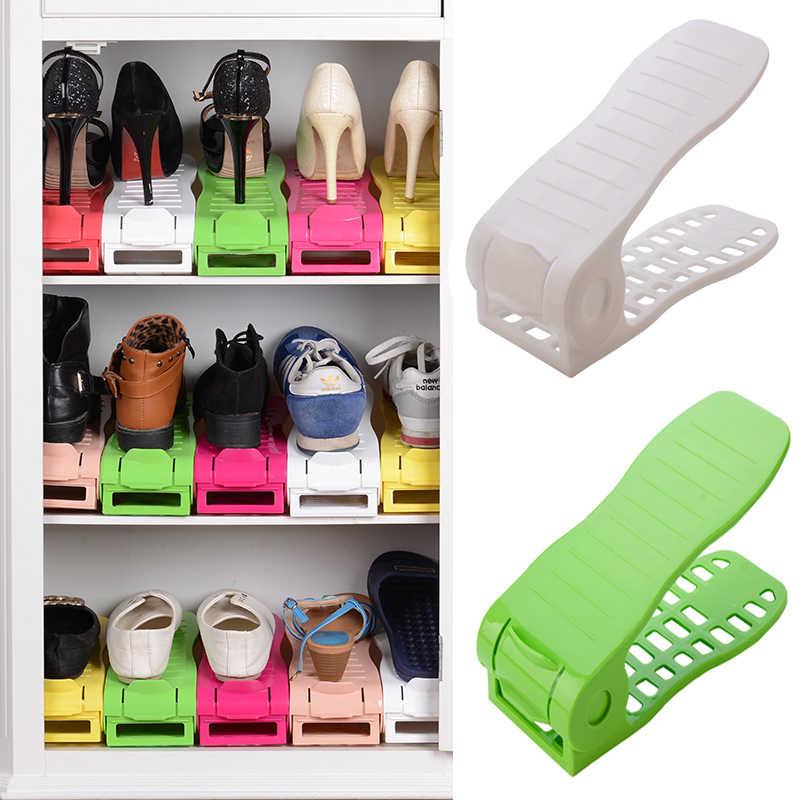 2018 Fashion Shoe Racks Modern Double Cleaning Storage Shoes Rack Living Room Convenient Shoe box Shoes Organizer Stand Shelf