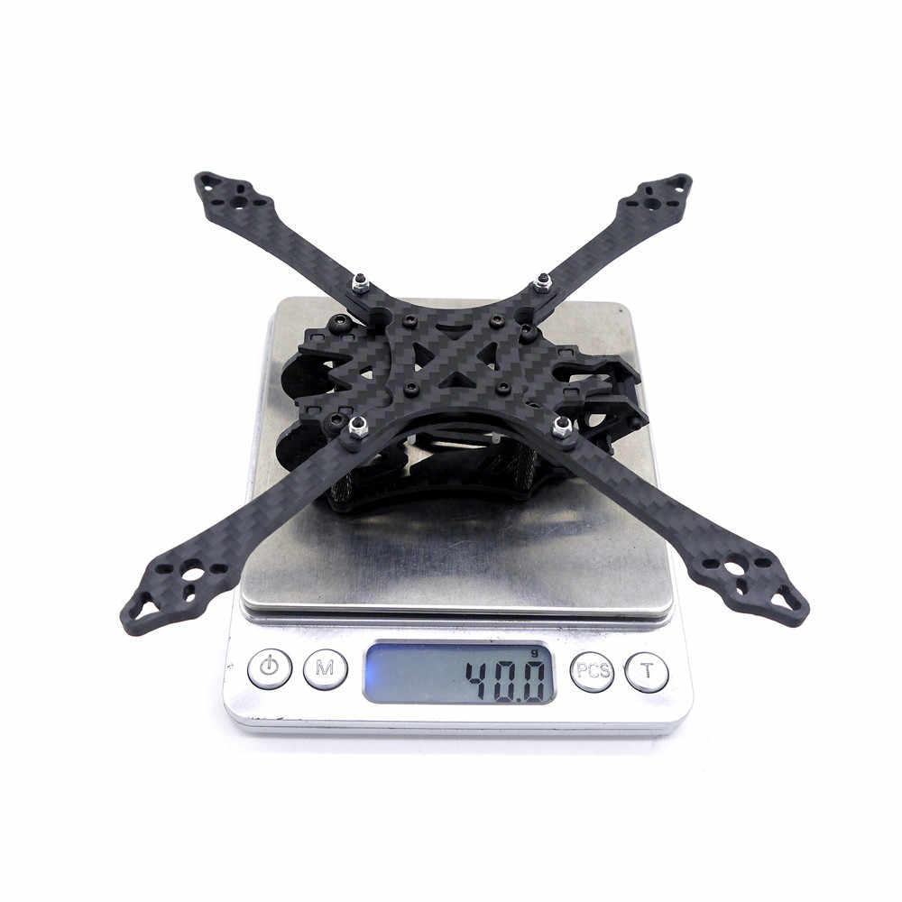 Alta calidad HF150 150mm Base de la rueda 4mm espesor del brazo de fibra de carbono 3 pulgadas marco Kit para RC Drone FPV Racing repuesto