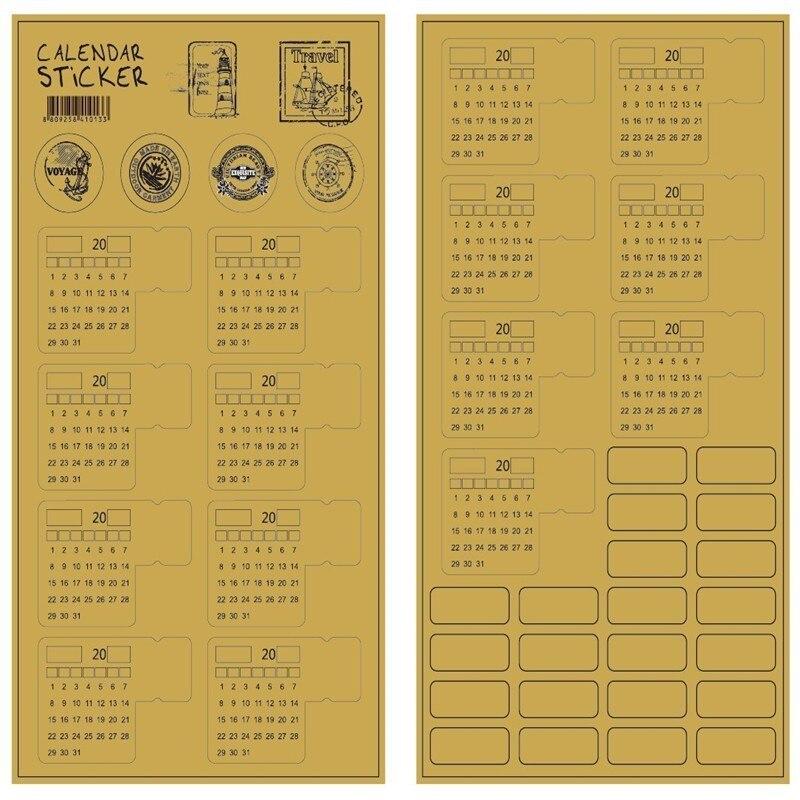 Kalender 2 Teile/los Kreative Aufkleber Perpetual Kalender 2019 Täglichen Planer Büro Dekoration Liefert Organizer Desktop Kalender 00017 Sparen Sie 50-70%