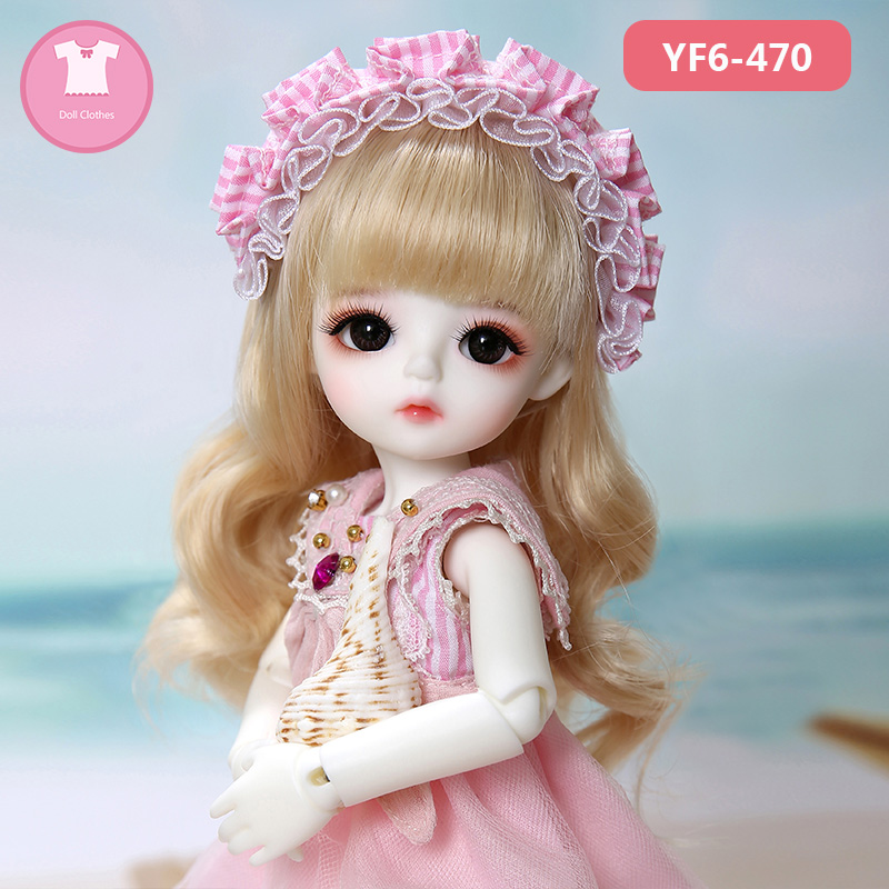 1/6 BJD SD Doll Clothes Pink Or White Lattice T-shirt And Black Jeans Cute For Yosd Body Doll Accessories