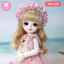 1/6 BJD SD Doll Clothes pink or white lattice T shirt and black jeans cute For Yosd Body Doll Accessories