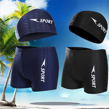 2019 New Men's Short Swim Trunks Beach Surfing Running Swimwear Shorts loose swimsuit plus Size XL-XXXL(China)