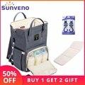 SUNVENO Fashion Mummy Maternity Diaper Bag Large Nursing Bag Travel Backpack Designer Stroller Baby Bag Baby Care Nappy Backpack
