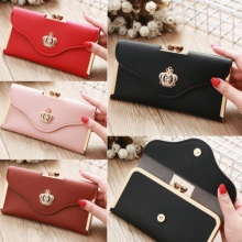 Women Casual Leather Clutch Long Wallet PU Card Holder Lady Purse Envelope Bag Handbag thinkthendo women fashion pu leather clutch wallet card holder bag ladies long purse handbag