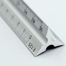 30 см Алюминиевый металлический треугольный масштаб архитектурного инженера техническая линейка