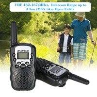 2 шт. Мини Walkie Talkie дети радио для Baofeng BF-T3 0,5 Вт ПМР PMR446 ФРС частота увч 10 тонов вызова Портативный двухстороннее радио подарок