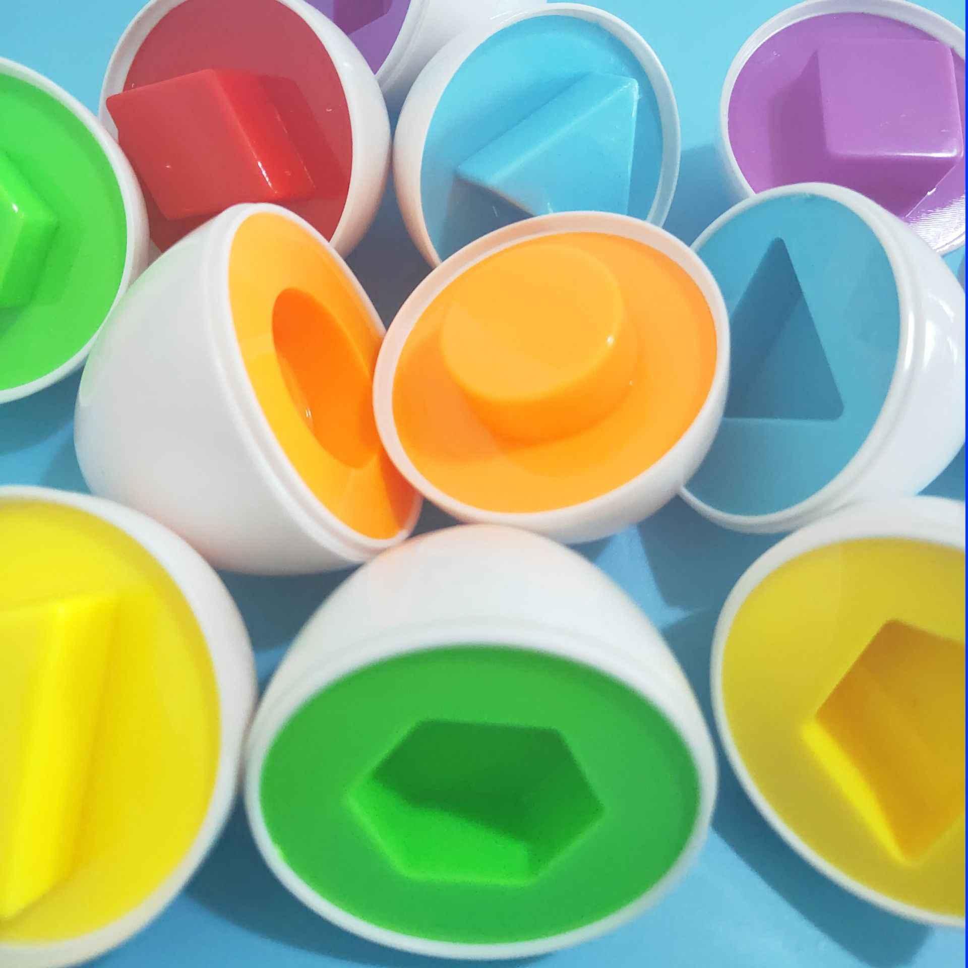 ثلاثية الأبعاد لغز 6 البيض الذكية شكل مختلط الحكمة التظاهر مونتيسوري تعلم لعبة الدماغ للأطفال أطفال التعلم المبكر التعليمية الساخن