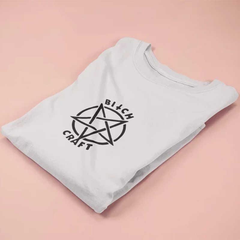 087062ac5ac8 ... Tshirt Gothic Women Plus Size Fashion Shirt Tops Punk Bitch Craft T-Shirt  Top T ...