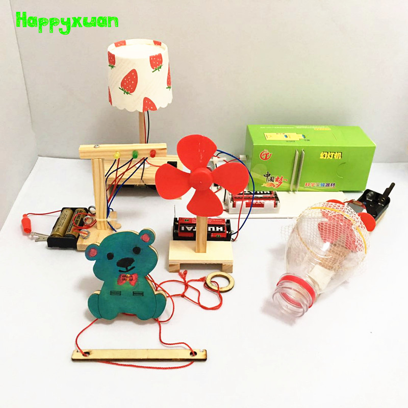 Happyxuan 6pcs Daily Invention Set Experiment Physics Fun Toys Technology DIY Science Project Kits Kid Scientist STEM Learning