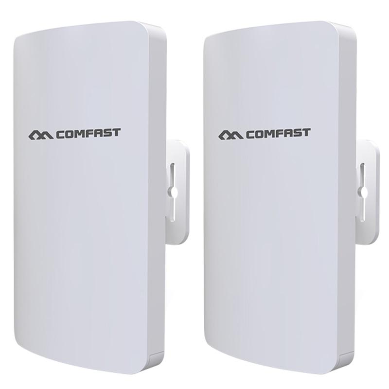 Comfast 2 Stk/set Comfast Cf-e113a 300 Mbps High Power Outdoor Wifi Bridge Router Ingebouwde Pa 3 Km 5.8 Ghz Een Klik Pairing Stabiele