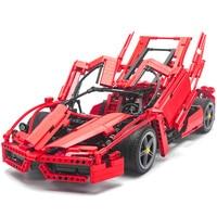 1359pcs Racers Ferrare Enzo Super Car 1:10 Scale Sports Car Enzo Model Compatible Legoing Technic 8653 Building Kits Bricks Toy