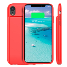 For iPhone Xr Battery Charger Case with Audio 5000mAh External Backup Charger Power Bank Protective Phone Shell phone Cover