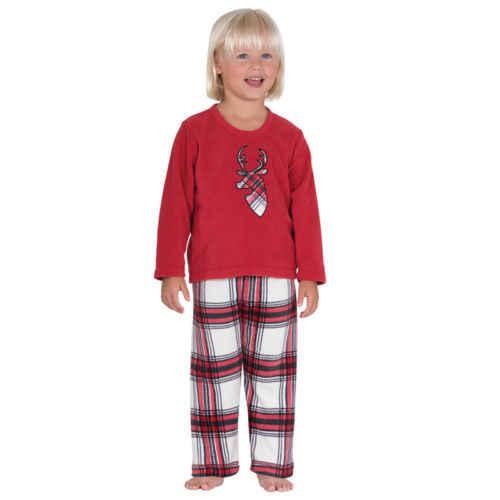 חורף חם משפחה התאמת חג המולד פיג 'מה סט נשים תינוק ילדים תחתון פסים צביים הדפסת חולצות T חולצה הלבשת